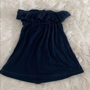 Hollister Tops - Women's navy blue ruffle tube top from Hollister ✨
